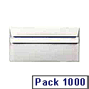 Envelope DL 90gsm White Self-Seal Pack of 1000 WX3480