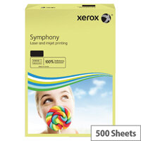 Xerox Symphony Pastel Yellow A3 Paper 80gsm Pack 500 003R91957