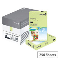 Xerox Symphony Pastel Green A4 Card Paper 160gsm Pack of 250 Sheets