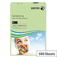 Xerox Symphony Mid-Green A4 Paper 80gsm Pack of 500
