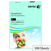 Xerox Symphony Medium Tints Mid Blue A4 Paper Ream 80gsm Pack of 500