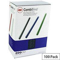 GBC Binding Comb A5 12mm Black Pack of 100