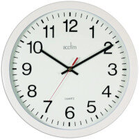 Acctim Controller Wallclock 368Mm White