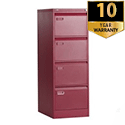 4 Drawer Filing Cabinet Red