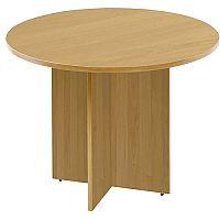 Arista 1200mm Round Meeting Table Oak KF72049