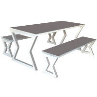 Arizona Fully Welded Table & Bench Set