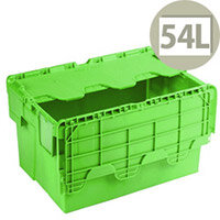 Attached Lid Container 54 Litre Green 360330