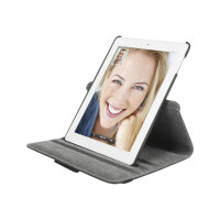 Targus VersaVu 360° Rotating Stand & Case - Case for tablet - faux leather, lychee polyurethane leather - black - for Apple iPad (3rd generation); iPad 2; iPad with Retina display (4th generation)