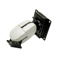Ergotron 100 Series Pivot Double - Mounting kit (double pivot) for flat panel - grey, black