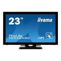 "Iiyama ProLite T2336MSC-B2 - LED Computer Monitor - 23"" (23"" viewable) - touchscreen - 1920 x 1080 Full HD (1080p) - IPS - 250 cd/m² - 1000:1 - 5 ms - HDMI, DVI-D, VGA - speakers - black"