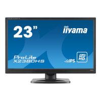 "Iiyama ProLite X2380HS-1 - LED Computer Monitor - 23"" - 1920 x 1080 Full HD (1080p) - IPS - 250 cd/m² - 1000:1 - 5 ms - HDMI, DVI-D, VGA - speakers - black"