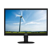 """Philips S-line 241S4LCB - LED Computer Monitor - 24"""" - 1920 x 1080 Full HD (1080p) - TN - 250 cd/m² - 1000:1 - 5 ms - DVI-D, VGA - textured black with black stand"""