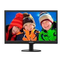 """Philips V-line 193V5LSB2 - LED Computer Monitor - 18.5"""" - 1366 x 768 - 200 cd/m² - 700:1 - 5 ms - VGA - textured black, black hairline"""