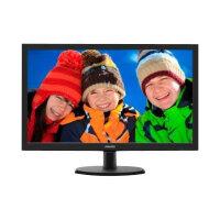 "Philips V-line 223V5LSB2 - LED Computer Monitor - 21.5"" - 1920 x 1080 Full HD (1080p) - 200 cd/m² - 600:1 - 5 ms - VGA - textured black, black hairline"