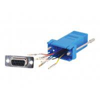 C2G Modular Adapter - Serial adapter - RJ-45 (F) to DB-9 (F) - blue