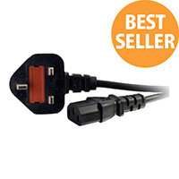 C2G Universal Power Cord - Power cable - BS 1363 (M) to IEC 60320 C13 - 2 m - molded - black
