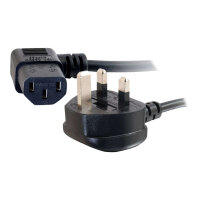 C2G Universal Power Cord - Power cable - BS 1363 (M) to IEC 60320 C13 - 5 m - 90° connector, molded - black