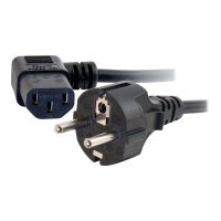 C2G Universal Power Cord - Power cable - CEE 7/7 (M) to IEC 60320 C13 - 5 m - 90° connector, molded - black - Europe