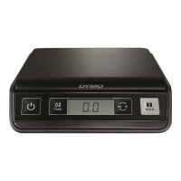 DYMO M2 - Postal scales - capacity: 2 kg / 4.4 lbs - graduation: 1 g / 0.1 oz - 15 cm x 15 cm - black/silver