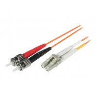C2G Low-Smoke Zero-Halogen - Patch cable - LC multi-mode (M) to ST multi-mode (M) - 3 m - fibre optic - 62.5 / 125 micron - orange