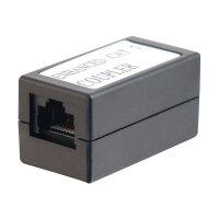 C2G In-line Modular Coupler - Phone coupler - RJ-45 (F) to RJ-45 (F) - CAT 5e - black