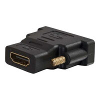 C2G Velocity Inline Adapter - Video adapter - HDMI / DVI - DVI-D (M) to HDMI (F) - black