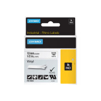 DYMO RhinoPRO Coloured Vinyl - Vinyl - permanent adhesive - white - Roll (1.2 cm x 5.5 m) 1 roll(s) tape - for Rhino 4200, 6000, 6000 Hard Case Kit; RhinoPRO 5000, 5000 Hard Case Kit