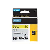 DYMO RhinoPRO - Vinyl - permanent adhesive - yellow - Roll (1.2 cm x 5.5 m) 1 roll(s) tape - for DYMO ILP219; Rhino 4200, 6000, 6000 Hard Case Kit; RhinoPRO 3000, 5000
