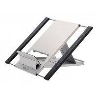 """NewStar Portable Laptop and Tablet Desk Stand - Silver - Stand for notebook / tablet - neoprene - silver - screen size: 10""""-22"""" - table-top"""
