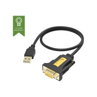 Vision USB to Serial Adaptor - Serial adapter - USB - RS-232 - black