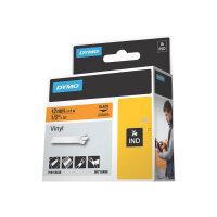 DYMO - Self-adhesive - black on orange - Roll (1.2 cm x 5.5 m) 1 roll(s) vinyl - for Rhino 4200, 6000, 6000 Hard Case Kit; RhinoPRO 1000, 3000, 5000