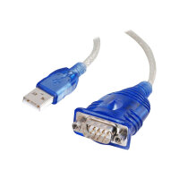 C2G USB to DB9 Serial Adapter Cable - Serial adapter - USB - RS-232 - blue