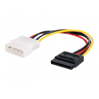 C2G Serial ATA (SATA) Power Adapter Cable - Power adapter - 4 PIN internal power (M) to SATA power (M) - 15 cm - multicolour