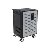 """Ergotron Zip40 Charging & Management Cart - Cart for 40 tablets / notebooks - steel - black, silver - screen size: up to 15.6"""""""
