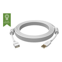 Vision Techconnect - USB extension cable - USB (F) to USB (M) - USB 2.0 - 1 m - white