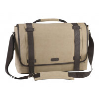 "Targus Canvas Laptop Messenger Bag for Men - Notebook carrying case - Laptop Bag - 15.6"" - beige"
