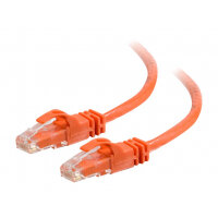 C2G Cat6 Booted Unshielded (UTP) Network Patch Cable - Patch cable - RJ-45 (M) to RJ-45 (M) - 50 cm - UTP - CAT 6 - molded, snagless, stranded - orange