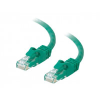C2G Cat6 Booted Unshielded (UTP) Network Patch Cable - Patch cable - RJ-45 (M) to RJ-45 (M) - 50 cm - UTP - CAT 6 - molded, snagless, stranded - green