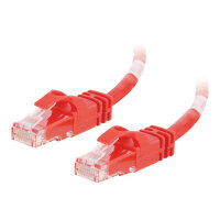 C2G Cat6 Booted Unshielded (UTP) Network Patch Cable - Patch cable - RJ-45 (M) to RJ-45 (M) - 1.5 m - UTP - CAT 6 - molded, snagless, stranded - red