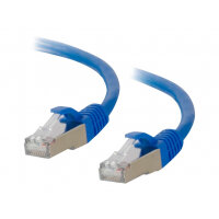 C2G Cat6a Booted Shielded (STP) Network Patch Cable - Patch cable - RJ-45 (M) to RJ-45 (M) - 3 m - STP - CAT 6a - molded, snagless, stranded - blue