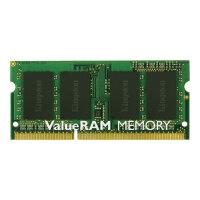 Kingston ValueRAM - DDR3 - 4 GB - SO-DIMM 204-pin - 1600 MHz / PC3-12800 - CL11 - 1.5 V - unbuffered - non-ECC