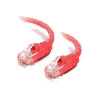 C2G Cat5e Booted Unshielded (UTP) Network Patch Cable - Patch cable - RJ-45 (M) to RJ-45 (M) - 1 m - UTP - CAT 5e - molded, snagless, stranded - red
