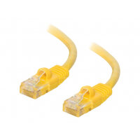 C2G Cat5e Booted Unshielded (UTP) Network Patch Cable - Patch cable - RJ-45 (M) to RJ-45 (M) - 1.5 m - UTP - CAT 5e - molded, snagless, stranded - yellow