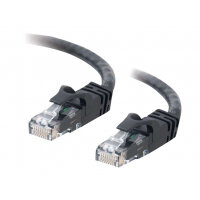 C2G Cat6 Booted Unshielded (UTP) Crossover Patch Cable - Crossover cable - RJ-45 (M) to RJ-45 (M) - 1 m - UTP - CAT 6 - molded, snagless, stranded - black