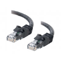 C2G Cat6 Booted Unshielded (UTP) Crossover Patch Cable - Crossover cable - RJ-45 (M) to RJ-45 (M) - 3 m - UTP - CAT 6 - molded, snagless, stranded - black
