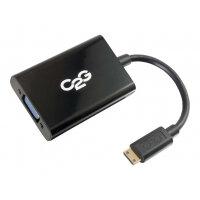 C2G HDMI Mini to VGA and Audio Adapter Converter Dongle - Video converter - HDMI - VGA - black