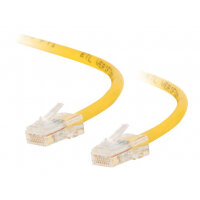 C2G Cat5e Non-Booted Unshielded (UTP) Network Patch Cable - Patch cable - RJ-45 (M) to RJ-45 (M) - 0.5 m - UTP - CAT 5e - stranded, uniboot - yellow