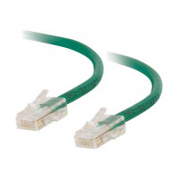C2G Cat5e Non-Booted Unshielded (UTP) Network Patch Cable - Patch cable - RJ-45 (M) to RJ-45 (M) - 50 cm - UTP - CAT 5e - stranded, uniboot - green