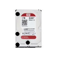 "WD Red NAS Hard Drive WD10EFRX - Hard drive - 1 TB - internal - 3.5"" - SATA 6Gb/s - buffer: 64 MB - for My Cloud EX2; EX4"