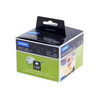 DYMO LabelWriter - Plastic - permanent adhesive - transparent - 36 x 89 mm 260 label(s) (1 roll(s) x 260) address labels - for DYMO LabelWriter 300, 400, 450, 4XL